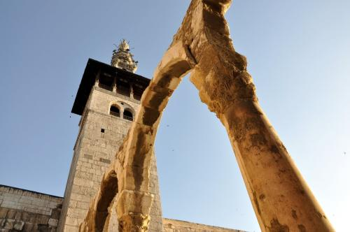 This minaret in the Ummayad mosque, is the place  where Jesus will return back to Earth near the end of time