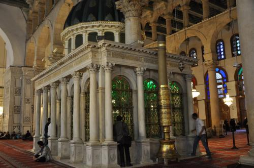 Shrine of John the Baptist inside the Ummayad Mosque, Damascus, Syria