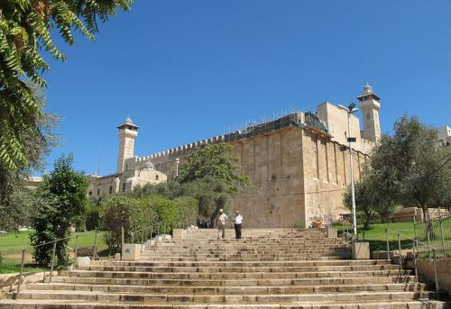 Masjid-e-Khalil in Hebron, Palestine. Abraham and his son's Isaac, Jacob and Joseph are said to be buried here
