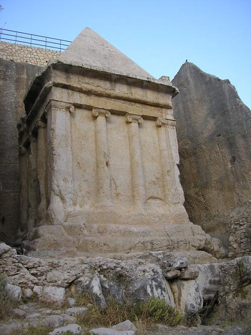Tomb of Zachariah, an ancient monument in the Kidron Valley outside the Old City of Jerusalem, Israel